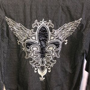 Panhandle Slim western shirt pearl snap black M